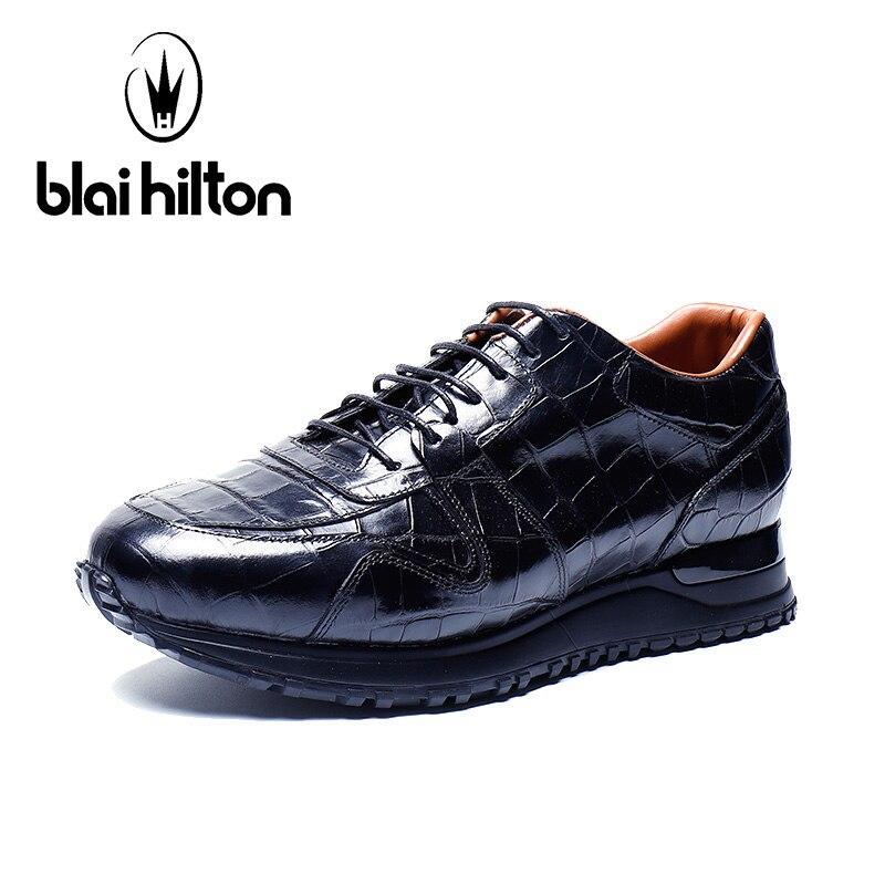 Blai Hilton 2018 New Spring/Autumn 100% men shoes luxury brand Genuine Cow Leather shoes Comfortable Men's Casual Shoes 2018 brand new spring autumn 100