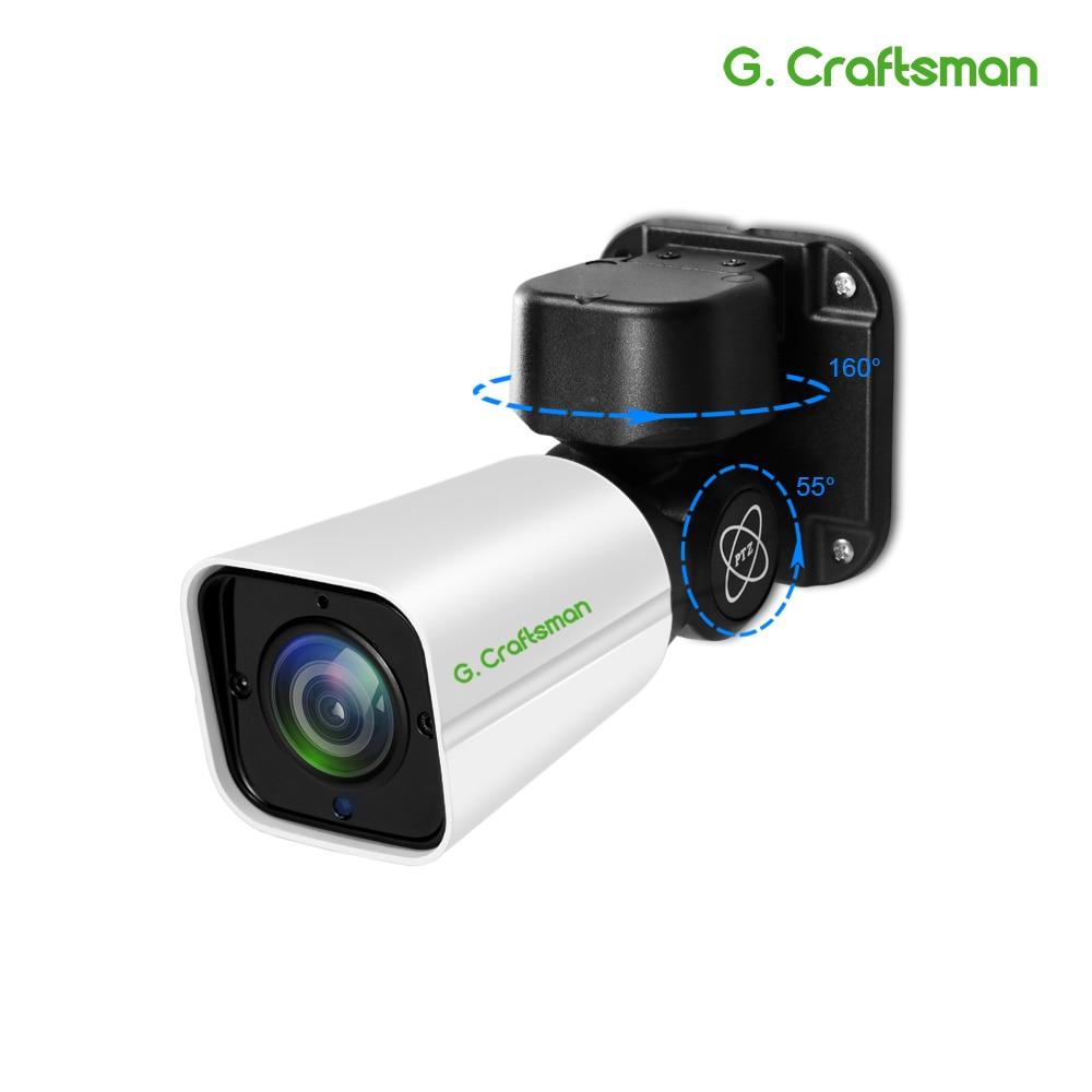5.0MP 4.0MP H.265 POE Mini Câmera PTZ IP Ao Ar Livre 2.8-12mm 4X IR Zoom Óptico 50 M P2P segurança CCTV Onvif À Prova D' Água G. artesão