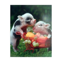 5d diy cute pig diamond painting full square round cross stitch mosaic embroidery home decoration