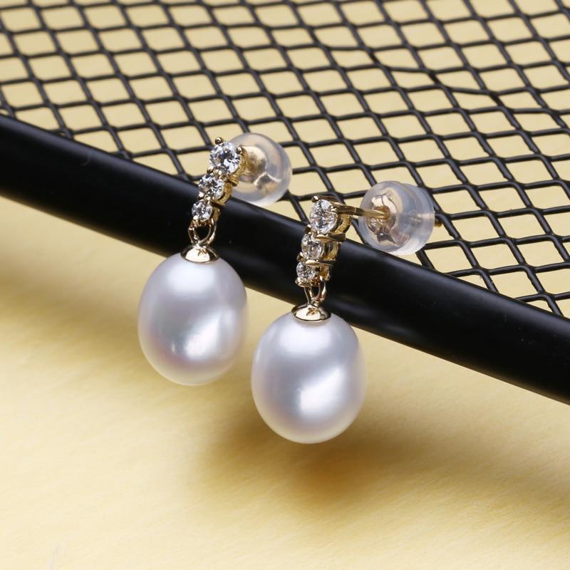 FENASY 18 k or boucles d'oreilles perle bijoux 18 K or pendentif perle bijoux colliers pendentif pour les amoureux envoyer S925 collier en argent - 2