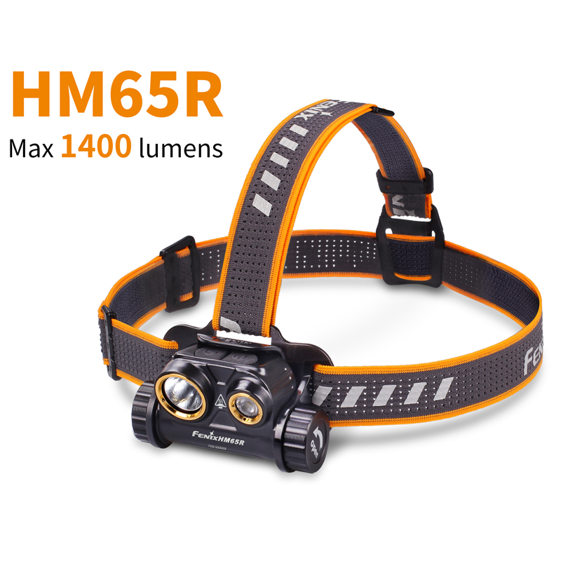 Dual Light Sources FENIX HM65R 1400 Lumens Tri proof Magnesium Headlamp for Long time High intensity