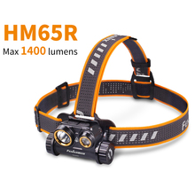Dual Light Sources FENIX HM65R  1400 Lumens Tri proof Magnesium Headlamp for Long time & High intensity Outdoor Activities