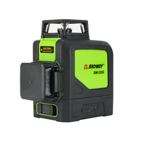 SNDWAY Laser Level 3D 2/8/12 lines Vertical and Horizontal Automatic Self Leveling 360 Degree Rotary Cross Red Green Beam Nivel