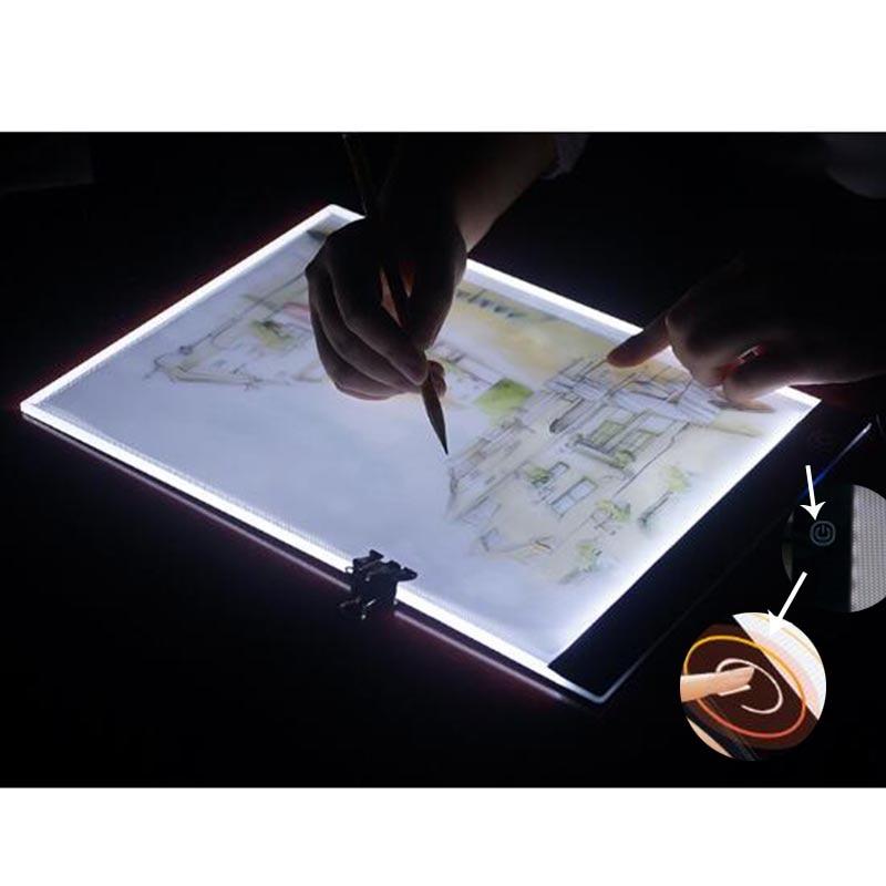 Ultrathin A4 LED Light Tablet Pad Apply to EU/UK/AU/US/USB Plug Diamond Embroidery Diamond Painting Cross Stitch Kits