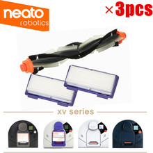 1 adet değiştirme Combo rulo fırça + HEPA filtre * 2 Neato XV 21 XV Signature Pro XV 11 XV 12 XV 15 kavisli Combo rulo fırçaları