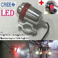 U3 האוניברסלי סופר מואר 30 W פנס עבודת אופנועים LED ראש אור ספוט לילה הנהיגה ערפל מנורת W/האדום Halo טבעות + מתג