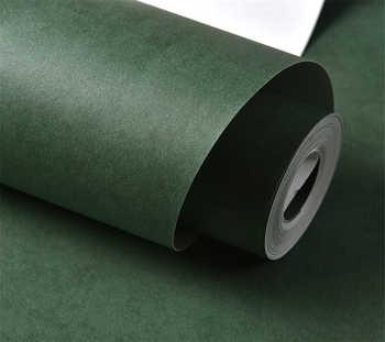 Beibehang Thick plain farbe tapete apfelgrün dark green mode schlafzimmer wohnzimmer hintergrund tapete rolle papier peint