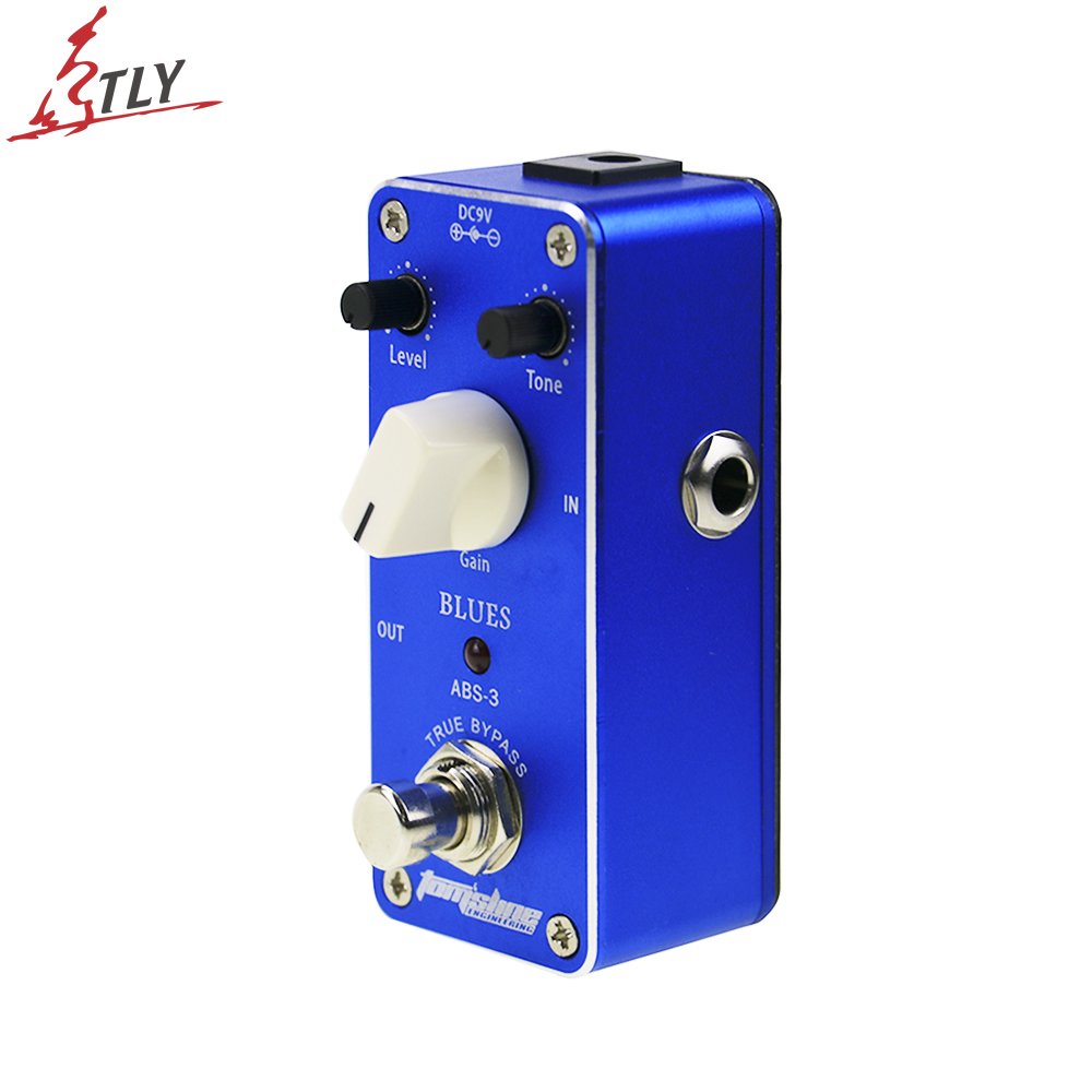 AROMA ABS-3 True Bypass Mini Analogue Blues Distortion Electric Guitar Effect Pedal Aluminum Alloy Built in FET Transistor mooer ensemble queen bass chorus effect pedal mini guitar effects true bypass with free connector and footswitch topper