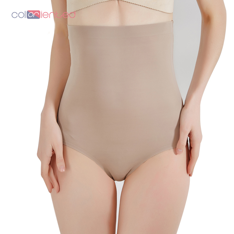 COLORIENTED Wholesale Super Stretch Tummy Control Panties High Waist Shaper Women Body Slimming Shapewear Underwear Butt Lifter