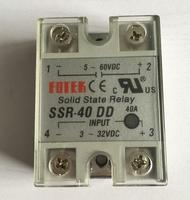 5pcs 5 60VDC To 3 32VDC 40A SSR 40DD Solid State Relay Module With Plastic Cover