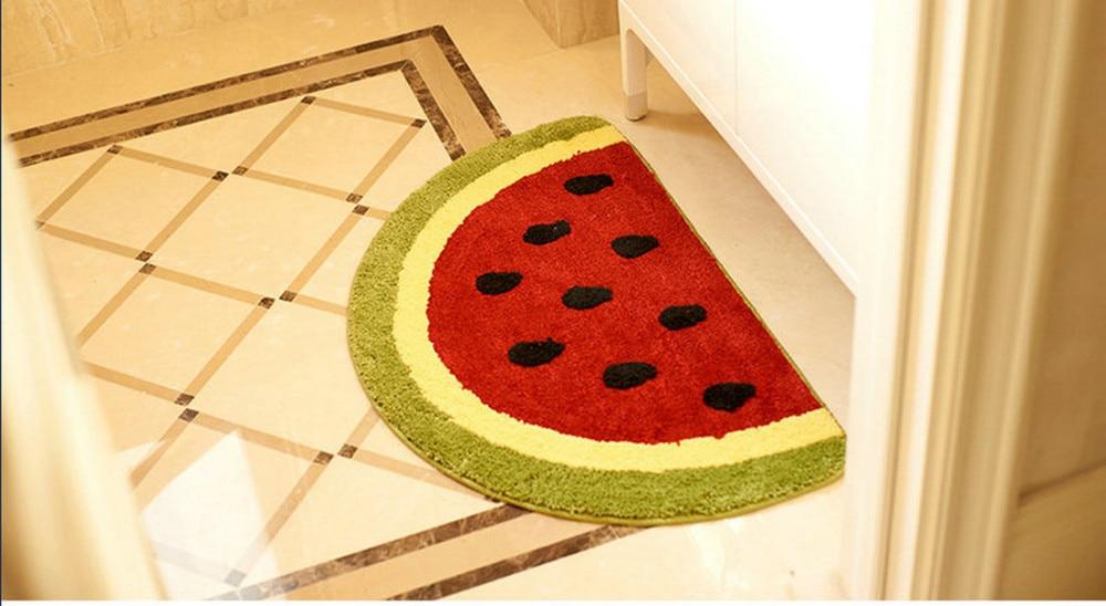 Superb Non Slip Water Absorbing Cute Fruits Lemon Watermelon Half Round Shaped  Bathroom Rugs Kitchen Mats Kidu0027s Room Carpets Baby Mat In Mat From Home U0026  Garden On ...