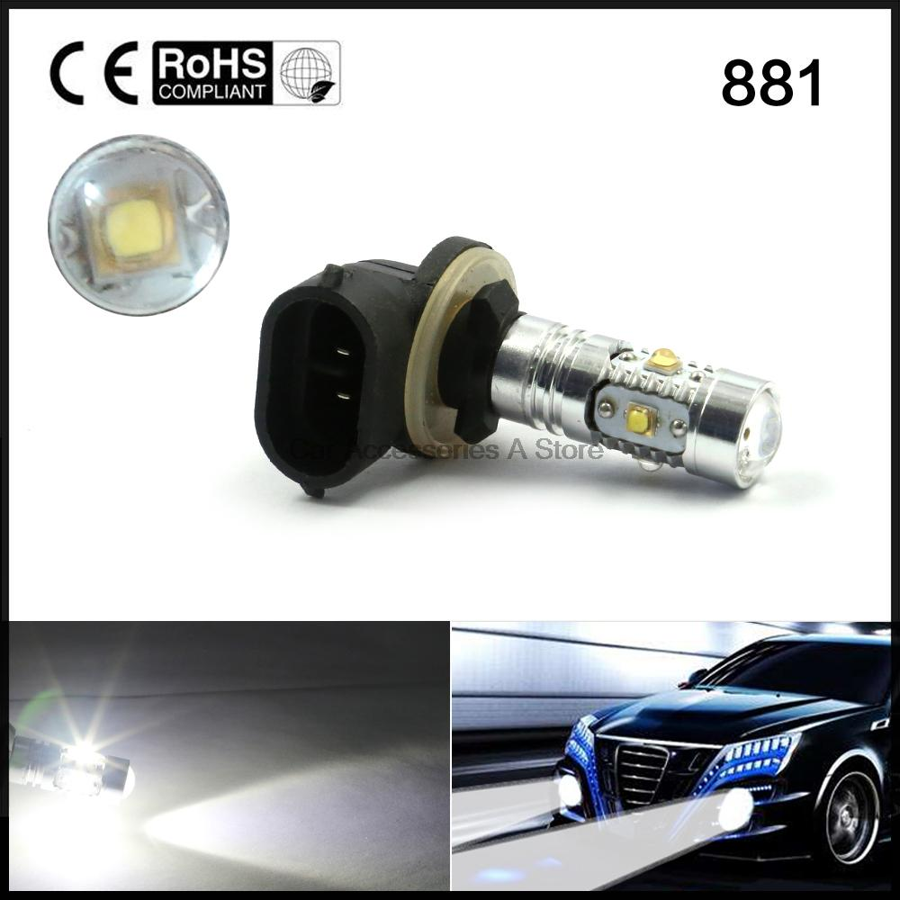 2pcs <font><b>H27</b></font> 881 25W <font><b>Super</b></font> White <font><b>LED</b></font> Car Fog Lamp DRL Daytime Running Light
