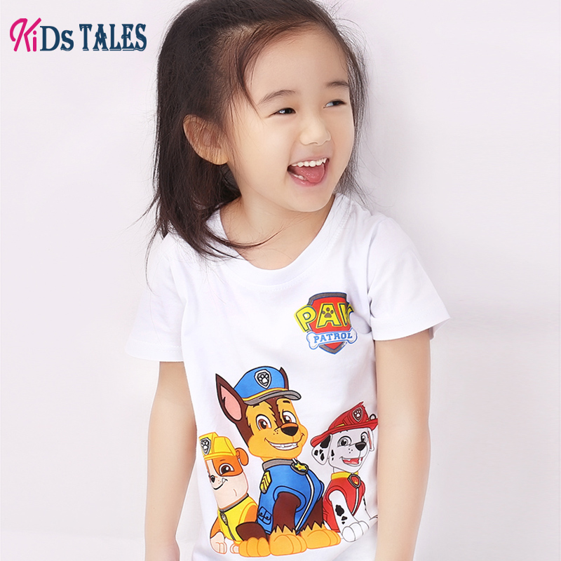 T-shirts for baby girls cotton summer dress kids tales short sleeve clothing children clothes T shirt cut cartoon dress T-shirts