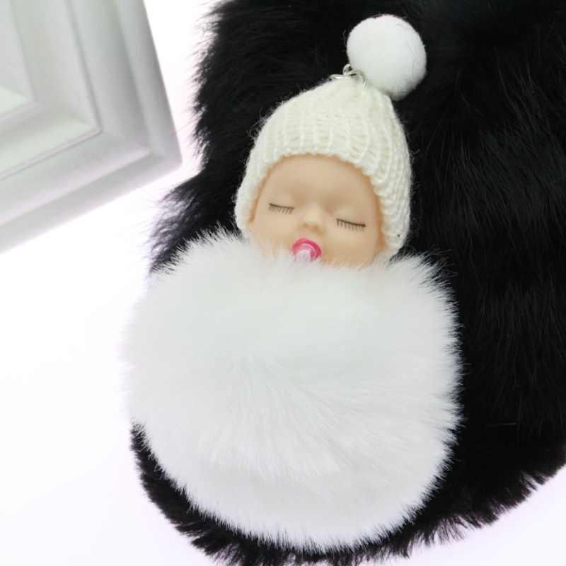 PINXIU дропшиппинг Спящая кукла мяч брелок автомобильный брелок держатель сумка Подвеска Шарм брелок плюшевый мех новый милый женский ключ