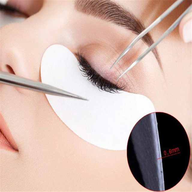 Drop Ship 50 Pairs Eye Pads Eyelash Extension Under Eye Gel Salon Lint Free Patches Eye Mask Make-Up Tools TSLM2 3