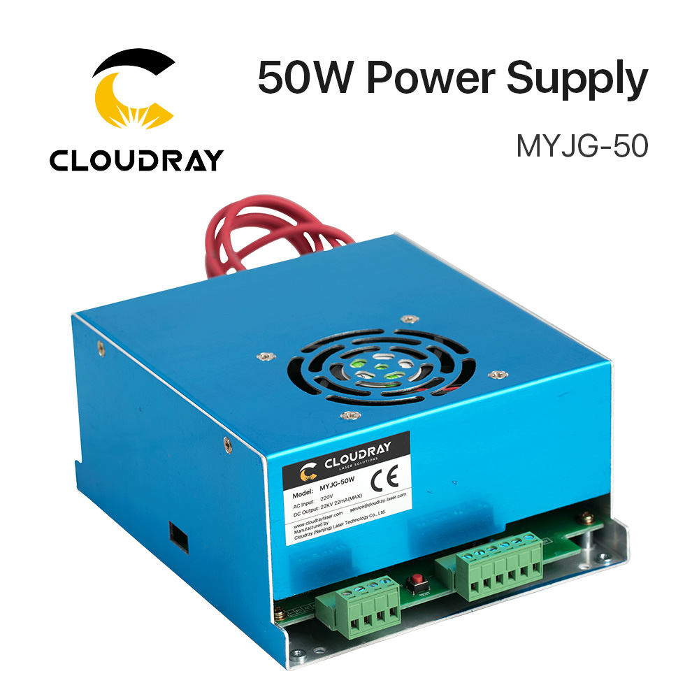Cloudray 50W CO2 Laser Power Supply for CO2 Laser Engraving Cutting Machine MYJG-50 co2 laser power supply 50w for co2 laser tube 50w for co2 laser cutting machine 50w