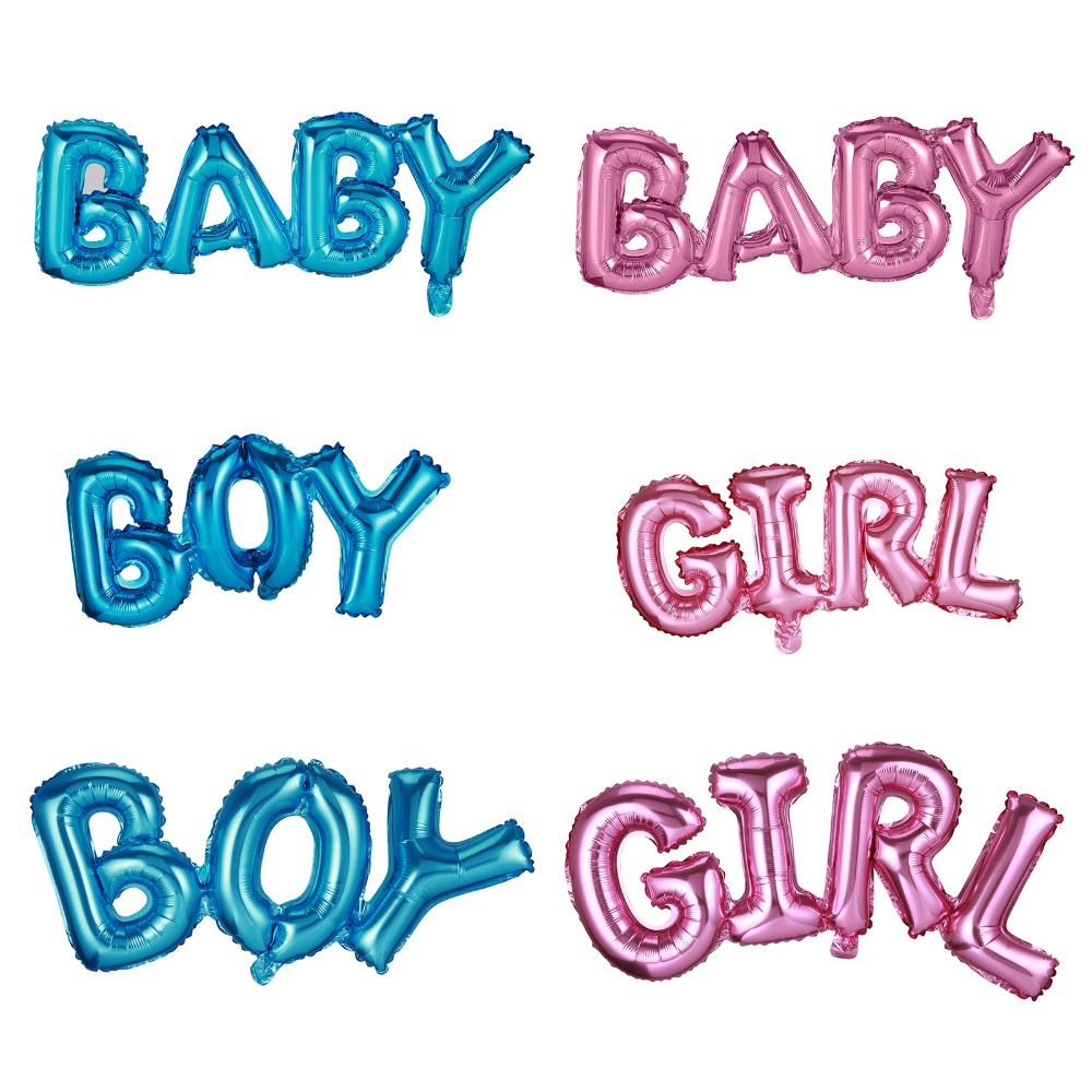 BABY BOYGIRL Gold Foil Balloons Its a Boy Girl Babyshower Decorations Party Supplies Gender Reveal Decoration