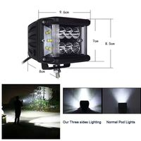 4 Inch 60W LED Work Light With Side Firing For Truck Tractor Boat OffRoad 4x4 ATV
