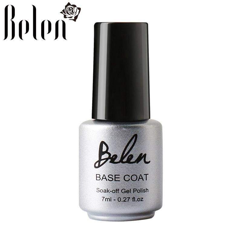 Belen 7ml Base Coat Nail Primer Gel For Nail Art Decal Nail Art Paint Need UV LED Lamp to Dry Base Coating For UV Gel Polish