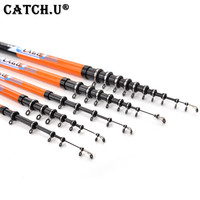 2 7 6 3M Super Hard Carbon Spinning Fishing Rod Telescopic Sea Fishing Pole