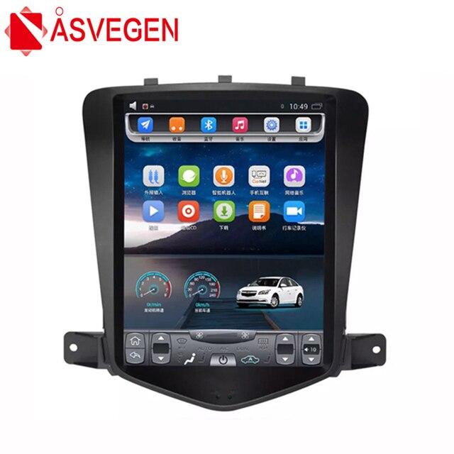 Asvegen 10.4'' Vertical Tesla Style Android 7.1 Car DVD Radio For CHEVROLET CRUZE 2009-2013 Auto Navi Stereo Headunit Multimedia