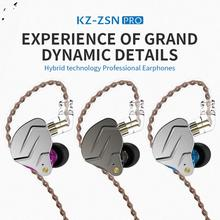 KZ-ZSNpro Stylish Double Dynamic 2Pin Plug Ear Hook In-ear Stereo Music Wired Earphones наушники 1more stylish dual dynamic in ear e1025 black