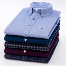 Mens Flannel Plaid Shirt 100% Cotton 2018 Casual Long Sleeve Slim Fit Brand Man Clothes Plus Size 5XL Spring Autumn Winter