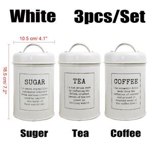 Image 5 - 3Pcs/Set Storage Tank Cover Steel Kitchen Utensils Multifunction Sugar Tea Coffee Box Case Household Food Canister Snack Tank