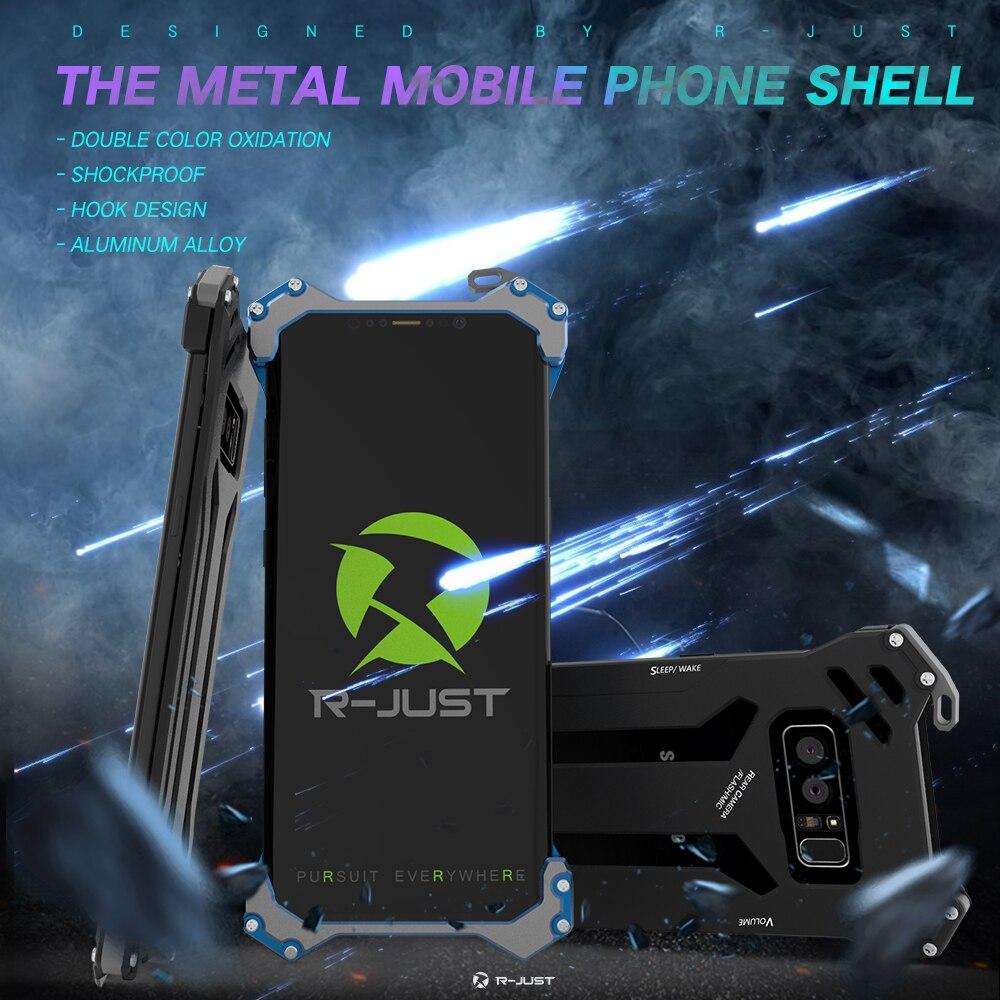 Mince Oxydé Alliage D'aluminium des Avions En Métal Équipée Cas Pour Samsung Galaxy Note 8 Couverture Arrière Dissipation de La Chaleur Shell Antichoc