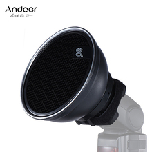 "Andoer 5.9"" (15cm) Silver Beauty Dish Diffuser Honeycomb for Neewer Canon Nikon Photography On camera Flash Speedlite Speedlight"