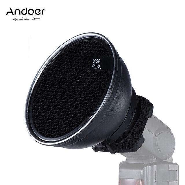"Andoer 5.9"" (15cm) Silver Beauty Dish Diffuser Honeycomb for Neewer Canon Nikon Photography On camera Flash Speedlite Speedlight"