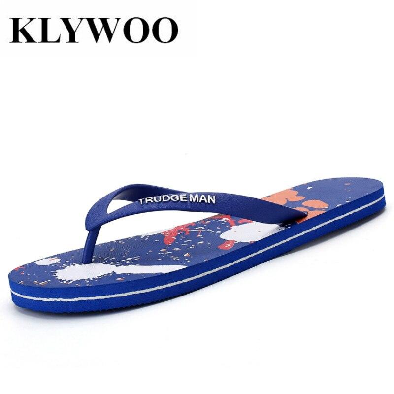 KLYWOO Big Size 39-48 Summer Mens Flip Flops Light Beach Sandals Slippers Fashion Casual Shoes Men Flip-flops Sandalias hombre стоимость