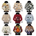 Alta calidad sudadera con capucha muchacho joven especial diseño realista 3D animal print hip-hop hoodies 15-20 años de ropa de béisbol