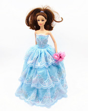 2015 handmade for barbie doll clothes dress the best Christmas gift baby h118
