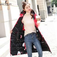 PinkyIsBlack Plus Size 3XL Women Winter Vests 2018 New Long Vest Cotton Padded Jacket Sleeveless Female Hooded Waistcoat Vest