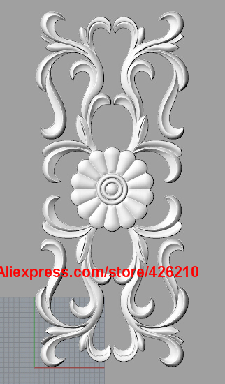 3D STL Models # FLOWERS DECORATIVE PANEL 2 # for CNC Aspire Artcam 3D Printer