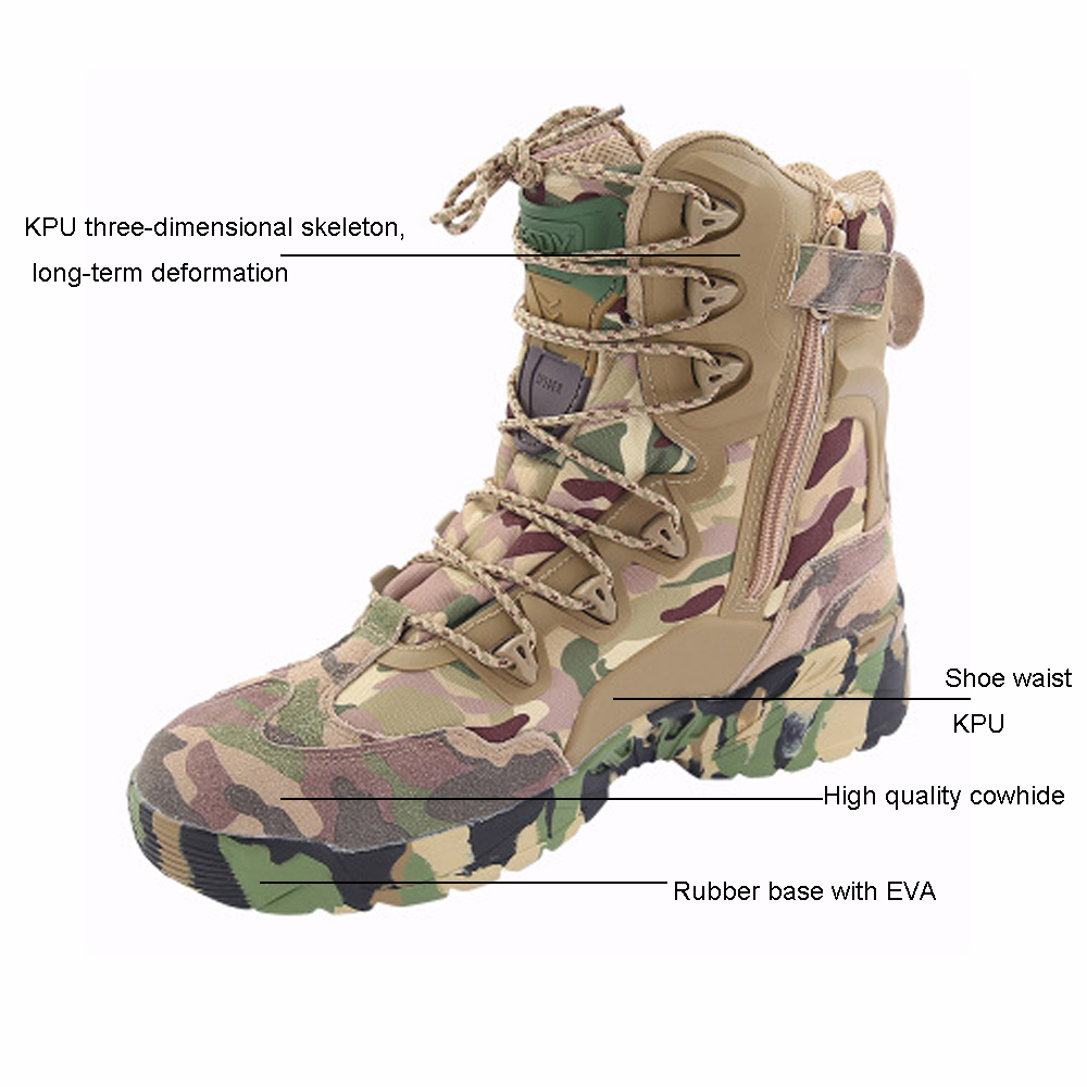 TENNEIGHT/уличные тактические ботинки для пустыни и охоты; мужские военные ботинки; камуфляжная спортивная обувь для альпинизма; обувь для путешествий и прогулок - 2
