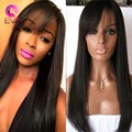 Brazilian Full Lace Wigs For Black Women African American Human Hair Wigs With Bangs Virgin Hair Lace Front Wigs With Baby Hair