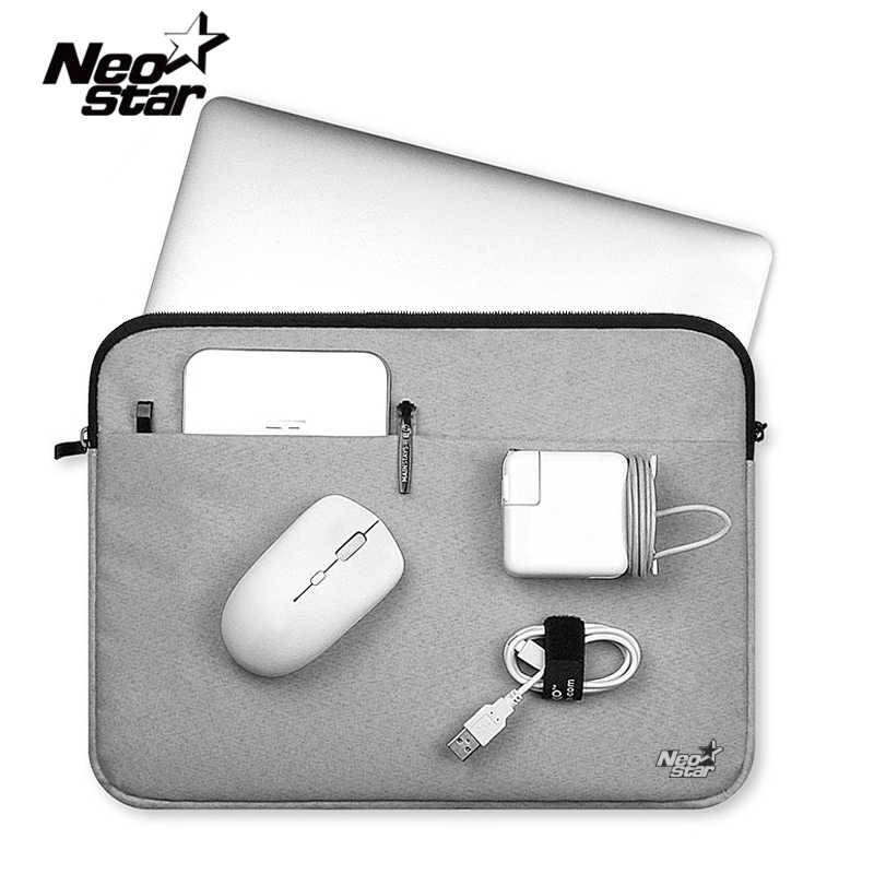 Funda de lona para ordenador portátil Macbook Air 11 12 13 15 pulgadas estuche de cremallera para Mac para Lenovo Notebook Mouse Tablet Carry Pouch Cover