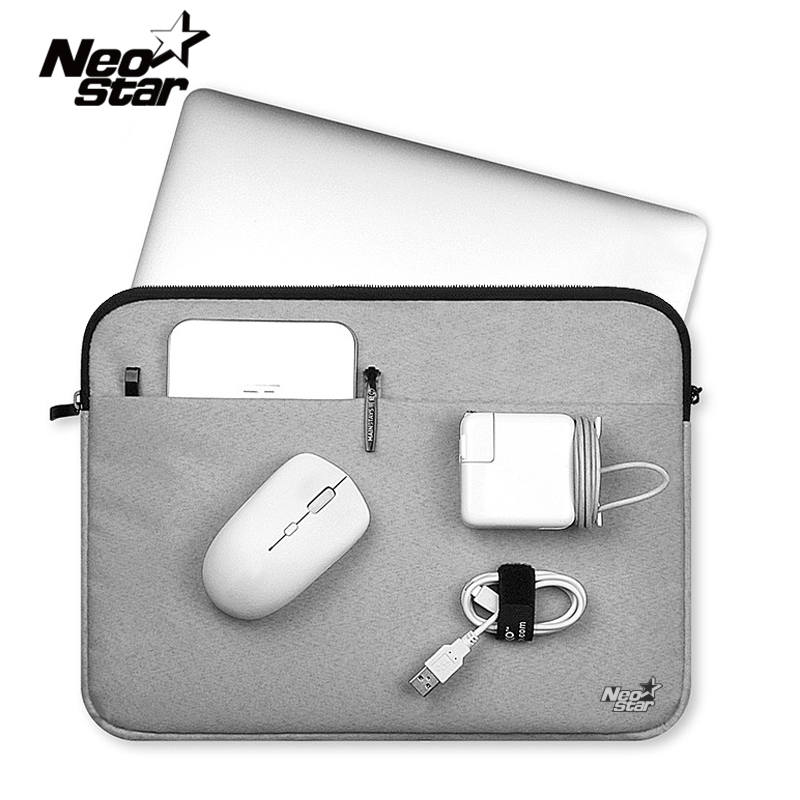Canvas sleeve laptoptas voor macbook air 11 12 13 15 inch rits case voor mac voor lenovo notebookmuis tablet draagtas cover