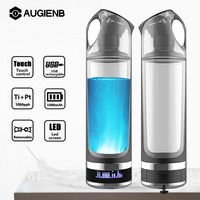Augienb Portable USB Rechargeable Hydrogen Rich Water Generator lonizer 500ml Alkaline Energy Bottle Healthy Anti Aging