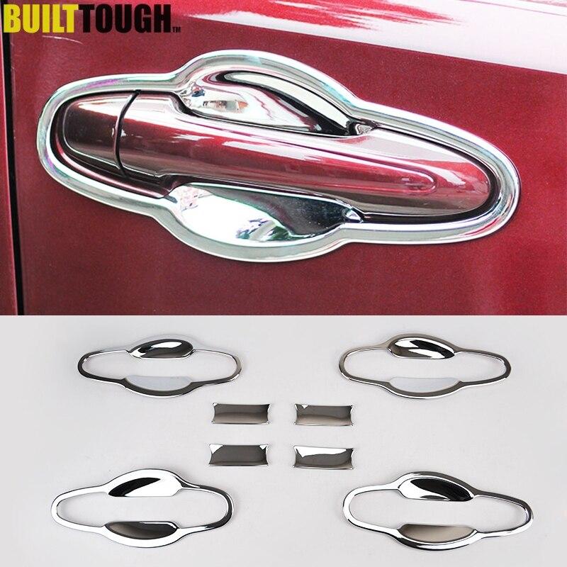 For Toyota RAV4 2013-2018 Chrome Door Handle Bowl Cover Trim Garnish Cup Insert