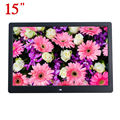 "15"" HD 15inch TFT-LCD 1280*800 Digital Photo Frame Picture Album Clock MP3 MP4 Movie AD Player with Remote Desktop for AD Menu"