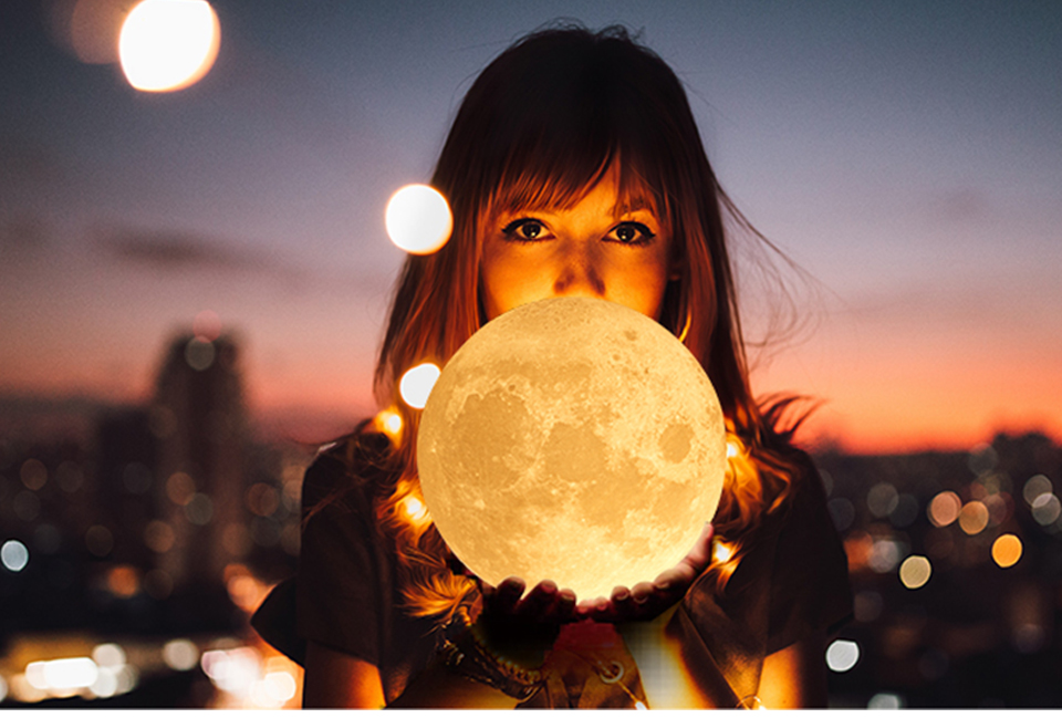 Rechargeable 3D Print Moon Table Lamp Christmas 16 Colors Night Touch Control Novelty Bedroom Desk Light For Baby Children Gifts (15)
