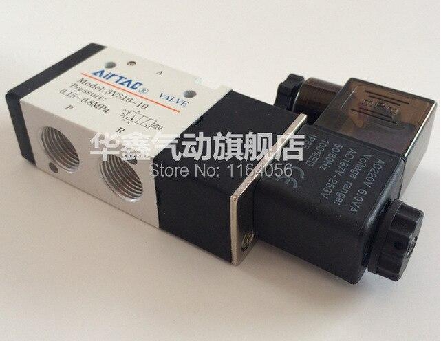 "1x 3V310-10 DC 12V 3Port 2Position 3//8/"" BSP Single Solenoid Pneumatic Air Valve"