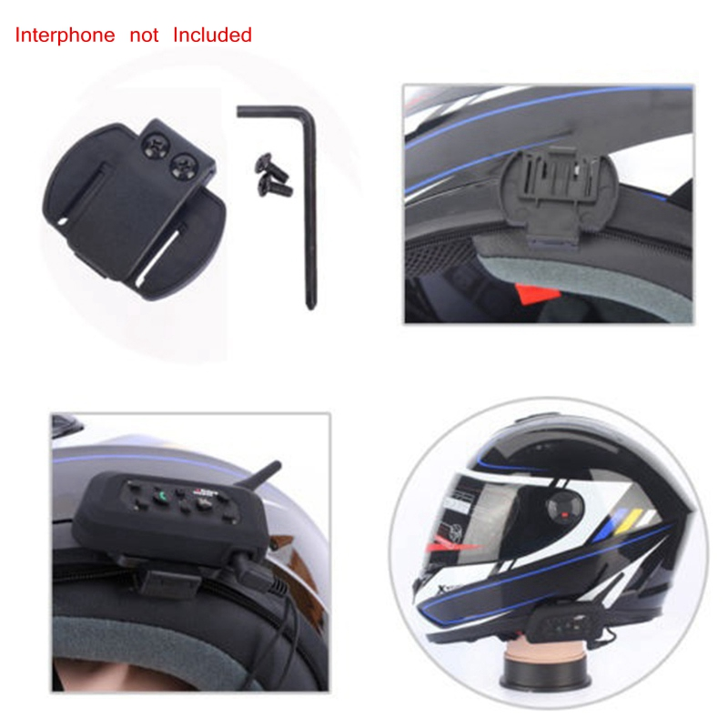 Wired Headset MicSpeaker for V4V6 Motorcycle Bluetooth Helmet Intercom with Clip Intercomunicador Moto Accessories (8)