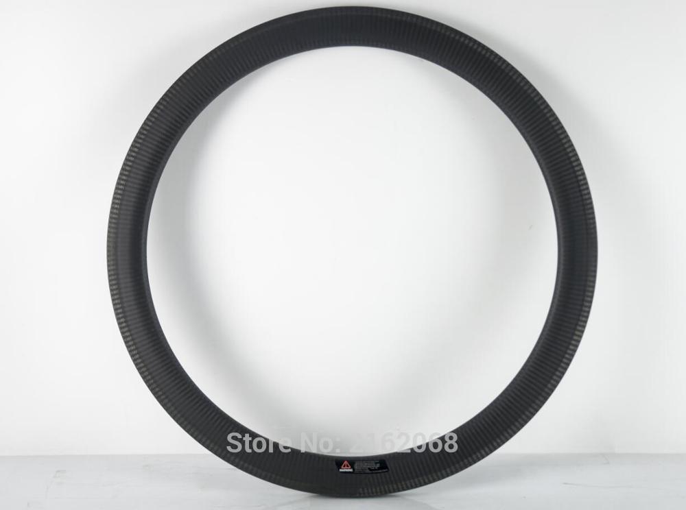 цена на Newest 700C 50mm Road/Fixed Gear/Track bike matte twill 3K full carbon fibre bicycle wheels clincher rim 23 25mm width Free ship