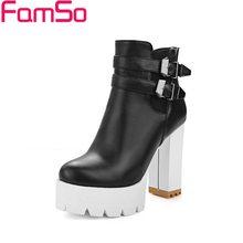 ขนาดบวก34-42 2016มาใหม่รองเท้าผู้หญิงสีดำสีขาวรองเท้าส้นสูงรองเท้าออกแบบรองเท้าขี่ฤดูหนาวรองเท้าของผู้หญิงSBT3930