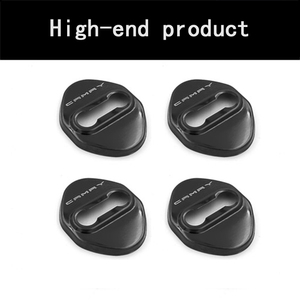 Image 4 - BACKAR 4pcs Car Styling Stainless Steel Interior Stickers For Toyota Camry XV70 2017 2018 Door Lock Cover Lockstitch Accessories