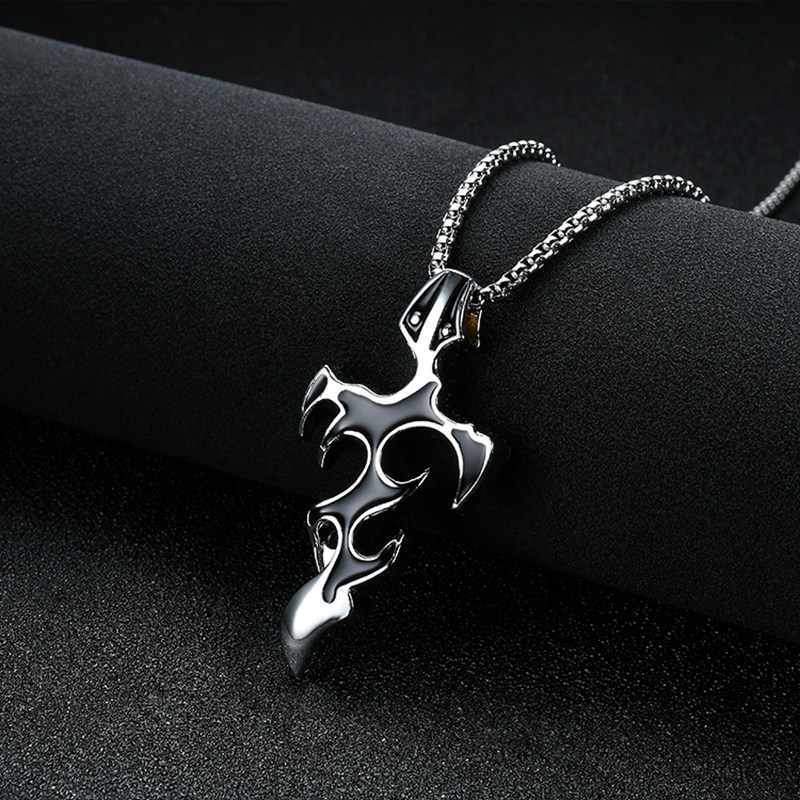 Stainless Steel Male Pendant Necklaces Punk Fashion Brave Men flamePendant Necklace  for   men
